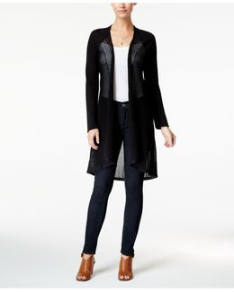 Pointelle Duster Cardigan