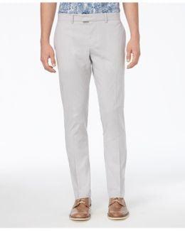 Men's Slim-fit Micro Vertical Striped Pants