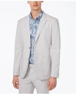 Men's Slim-fit Micro Vertical Stripe Blazer