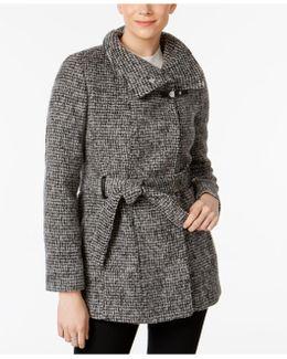 Belted Knit Walker Coat