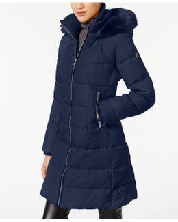 Faux-fur-trimmed Puffer Coat