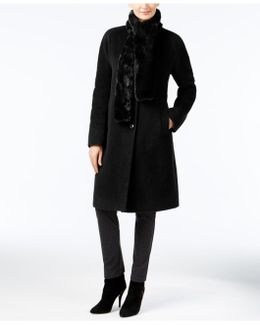 Walker Coat With Faux Fur Scarf