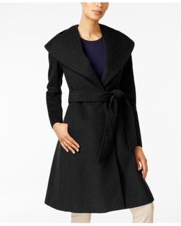 Asymmetrical Shawl-collar Coat