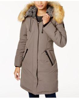 Faux-fur-trim Hooded Down Parka
