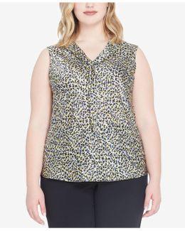 Plus Size Sailor-collar Top