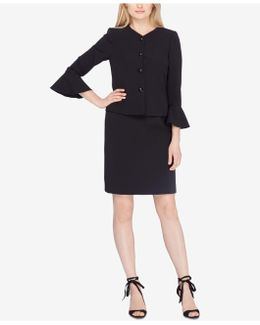 Bell-sleeve Skirt Suit