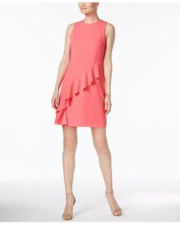 Ruffled Sheath Dress