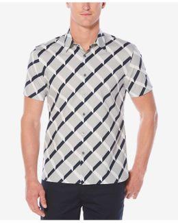 Short Sleeve Optical Ribbon Shirt