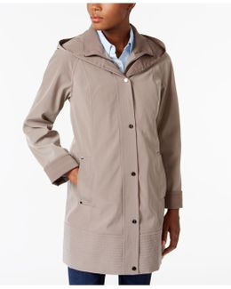 Two-toned Hooded Raincoat