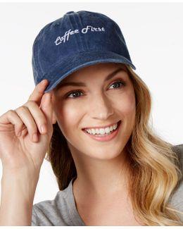 Cotton Coffee First Stonewash Baseball Cap