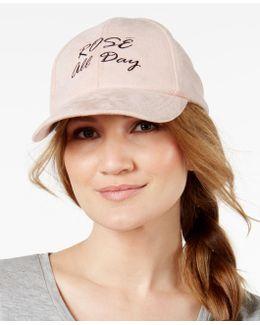 Rosé Day Faux-suede Baseball Cap