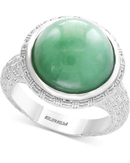 Jade (13mm) Ring In Sterling Silver