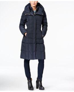 Layered Maxi Puffer Coat