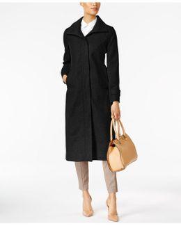 Stand-collar Maxi Coat