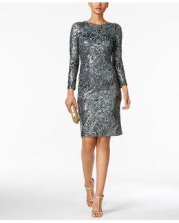 Petite Sequin Sheath Dress