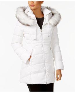 Faux-fur-trim Down Puffer Coat