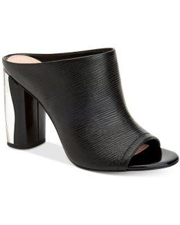 Renee Metal-heel Slides
