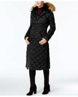 Faux-fur-trim Down Maxi Coat