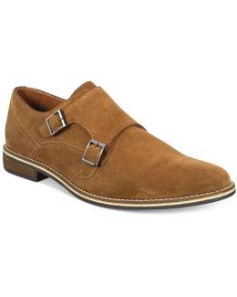 Men's Jacob Suede Monk-strap Dress Shoes