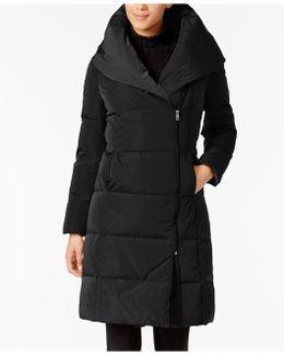 Asymmetrical Pillow-collar Puffer Coat