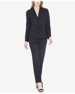 Three-button Zip-pocket Pantsuit