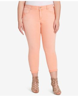 Trendy Plus Size Forever Peaches Wash Skinny Jeans