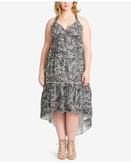 Trendy Plus Size Tiered High-low Dress