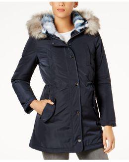 Faux-fur-lined Coat