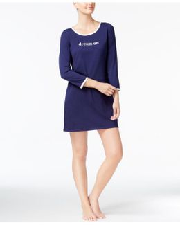 Graphic-print Knit Sleepshirt