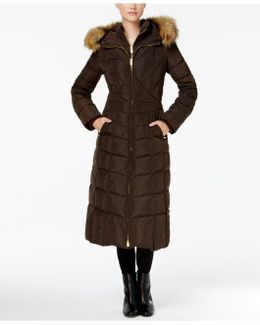 Faux-fur-trim Down Maxi Coat