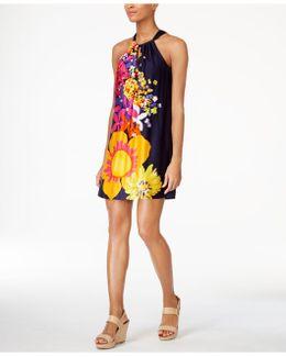 Roe Floral-print Halter Dress