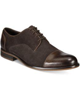 Men's Suede Cap-toe Oxfords