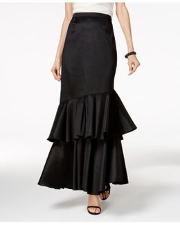 Tiered A-line Skirt