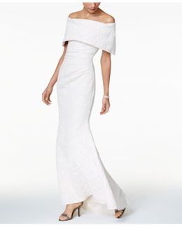 Off-the-shoulder Jacquard Mermaid Gown