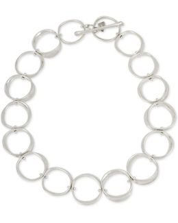 Silver-tone Circle Link Necklace