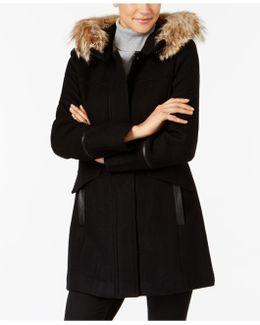 Coyote-fur-trim Coat