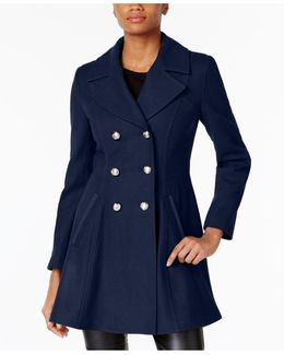 Double-breasted Skirted Peacoat