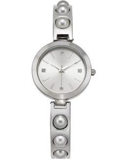 Women's Silver-tone Bracelet Watch 29mm