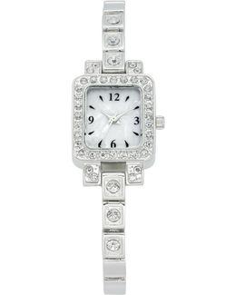 Women's Silver-tone Bracelet Watch 21mm