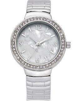 Women's Silver-tone Bracelet Watch 32mm
