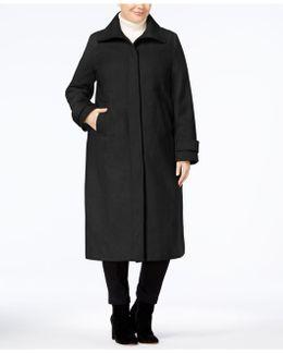 Plus Size Maxi Walker Coat
