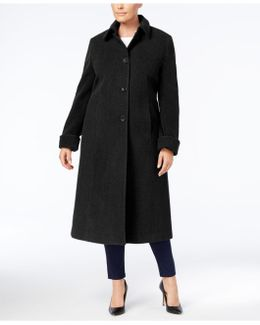 Plus Size Maxi Walker Coat