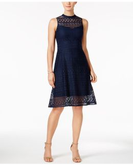 Lace Back-cutout Dress