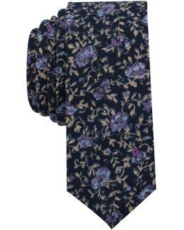 Men's Corbett Floral Skinny Tie