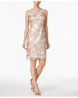 Sequin-embellished Jacquard Sheath Dress