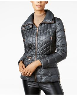 Quilted Packable Puffer Coat
