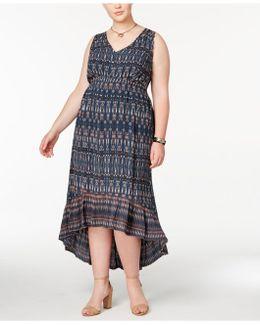 Trendy Plus Size Cotton Drawstring Dress