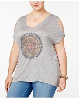 Trendy Plus Size Sue Cold-shoulder T-shirt