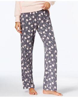 Printed Knit Pajama Pants