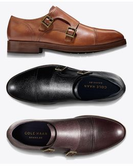 Men's Henry Grand Double-monk Strap Oxfords